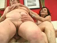 Geiler Omasex Dreier Porno