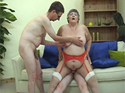 BBW Granny hat Dreier Sex