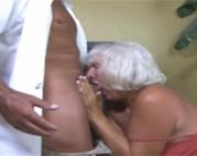Deepthroat Oma Blowjob