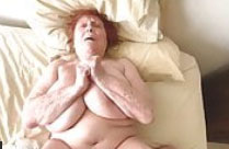 Alte fette Frau mit dicken Titten