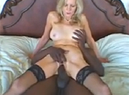 Interracial Omasex in Nylons