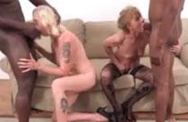 Zwei Omas in einem geilen Analsex Porno