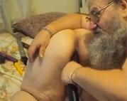Perverser Großvater und seine fette Alte