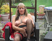 Reiche blonde Pornooma