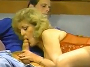 Retro Sex mit blonder Omi