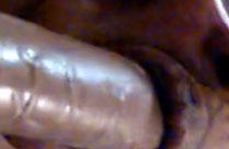 Schwarze Oma bläst schwarzen dicken Schwanz