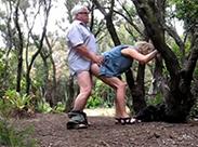 Senioren Sex im Wald