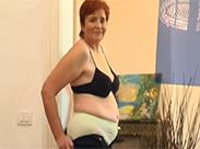 Sexy Oma Striptease