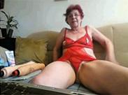 Webcam Oma fickt sich anal